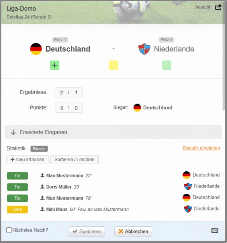 Turnier Erstellen App